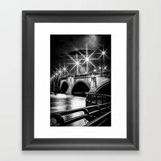Palm Beach Bridge Framed Art Print