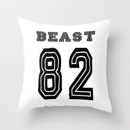 Beast 82 Throw Pillow
