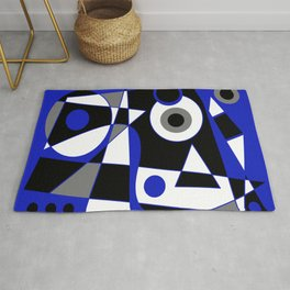 Abstract #505 Blue Rug