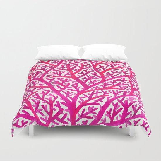 Fan Coral – Pink Ombré Duvet Cover