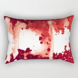 Bloodred Splashes Rectangular Pillow