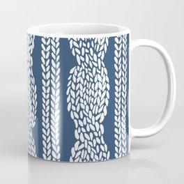 Cable Navy Coffee Mug
