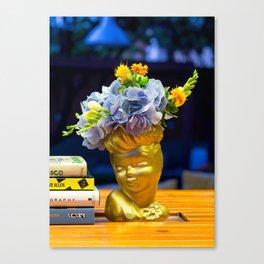 'Golden Girls' Floral Headvase Canvas Print