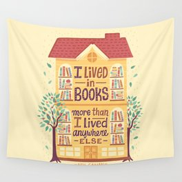 Lived in books Wandbehang