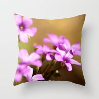 flora Throw Pillows featuring Flora  by MVision Photography