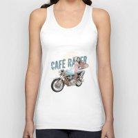 cafe racer Tank Tops featuring Cafe Racer by Liviu Antonescu