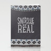 Stationery Cards featuring the snuggle is real by cabin supply co