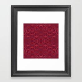 ELEGANT BEED RED TANGERINE PATTERN v3 Framed Art Print