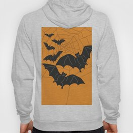 Flying Bats orange Hoody