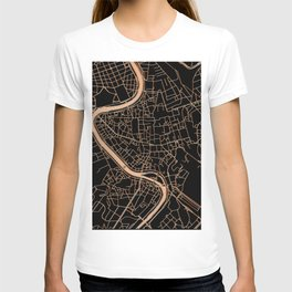 Black and gold Rome map T-shirt