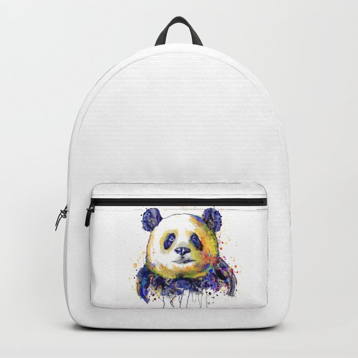 Colorful Panda Head Backpack