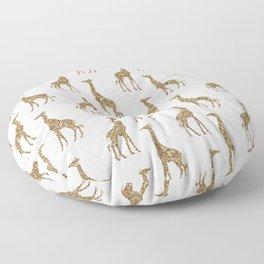 Gold Glitter Giraffe Pattern Floor Pillow