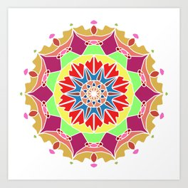 Indian mandala handmade Art Print