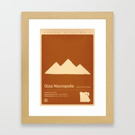 Giza Necroolis, Egypt Framed Art Print