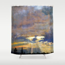 Johan Christian Dahl Cloud Study with Sunbeams Shower Curtain