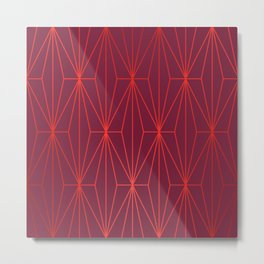 ELEGANT BEED RED TANGERINE  PATTERN Metal Print