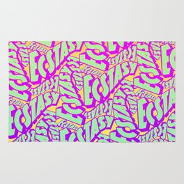 'Ecstacy' 70's Psych Poster Fade Pattern Rug
