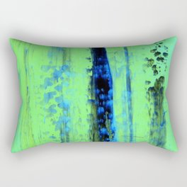 Gerhard Richter Inspired Urban Rain 2 - Modern Art Rectangular Pillow
