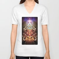 stargate V-neck T-shirts featuring Powerslave 2020 by Andre Villanueva