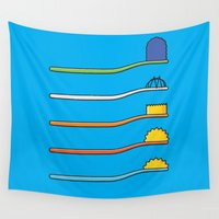 simpsons Wall Tapestries featuring The Simpsodynes by Quick Brown Fox