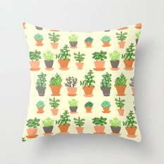 Windowsill Garden Throw Pillow