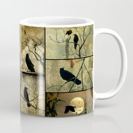 Aged Crow Collage Coffee Mug