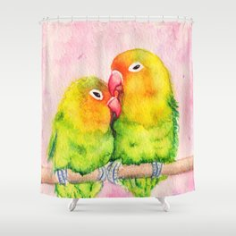 Lovebirds Shower Curtain