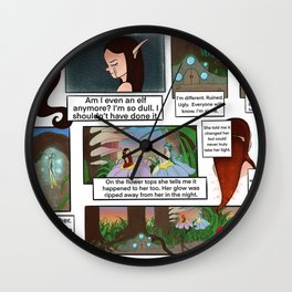 Comic Page 2 Wall Clock