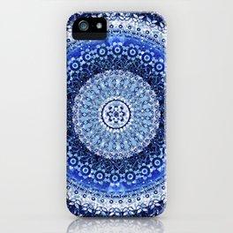 Cobalt Tapestry Mandala iPhone Case