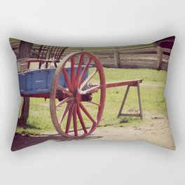 Old Farm Wagon Rectangular Pillow