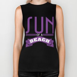 Violet Sun of a Beach T-shirt Design Humor Vacay Sea Surf Swimming Tan Sand Sunlight Relax Swim Biker Tank