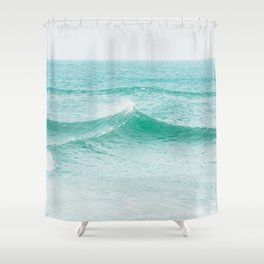 Faded Ocean II Shower Curtain