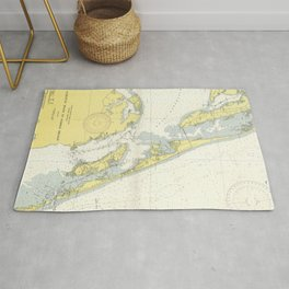 Vintage Map of The Outer Banks (1942) Rug