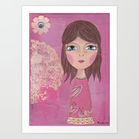 courage Art Prints featuring Courage by ArtByBeata