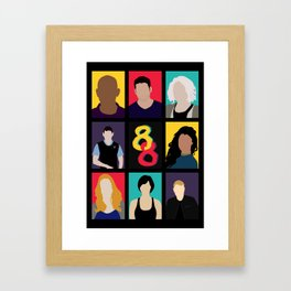 Sense8 Colors Framed Art Print