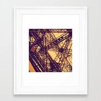 eiffel Framed Art Prints featuring Eiffel by adrianperive