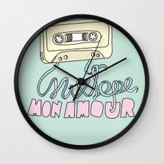 Mixtape mon amour Wall Clock