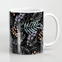 Berries and Leaves by Minikuosi Coffee Mug