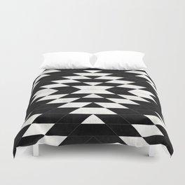 Urban Tribal Pattern No.14 - Aztec - Black Concrete Duvet Cover