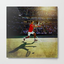 Novak Djokovic Tennis Metal Print