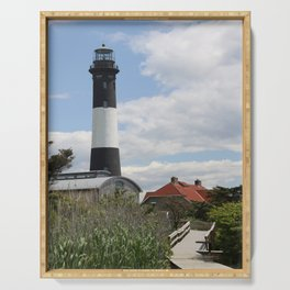 Walkway To Fire Island Lighthouse Serving Tray