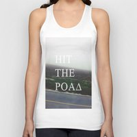 road Tank Tops featuring Road by sh3011