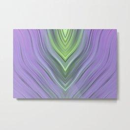stripes wave pattern 3 cl Metal Print
