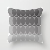 ombre Throw Pillows featuring Ombre by TypeArtist