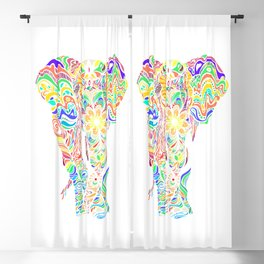 Not a circus elephant Blackout Curtain