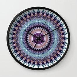 Mandala for Winter Mood Wall Clock