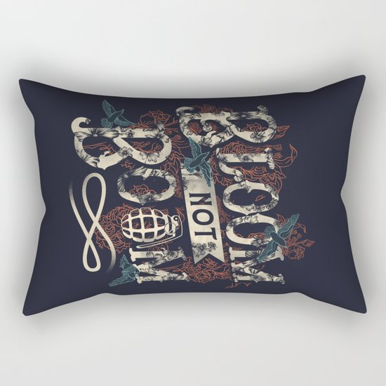 Bloom not Boom Rectangular Pillow