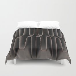 Industrial Waves | Metal Coils Abstract | Contemporary Art Duvet Cover