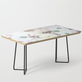 SPRING FLOWERS WHITE & PINK Coffee Table
