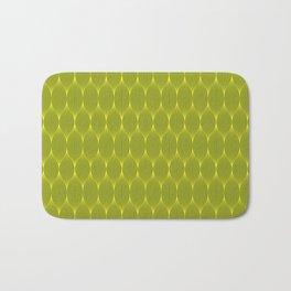 Grey On Yellow Optical Waves Repeat Pattern Bath Mat